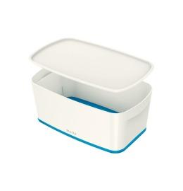 MyBox Klein, mit Deckel 5lt weiss/blau