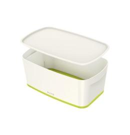 MyBox Klein, mit Deckel 5lt weiss/grün