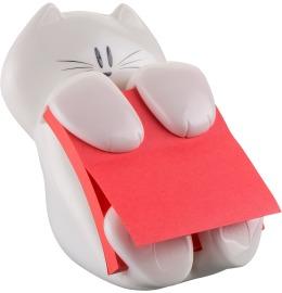 Dispenser Katze weiss Z-Notes/90 Blatt 76x76mm