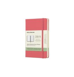 Wochen-Notizkalender Pocket A6 2018/2019,liniert,HC,altrosa