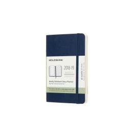 Wochen-Notizkalender Pocket A6 2018/2019,liniert,SC,saphir