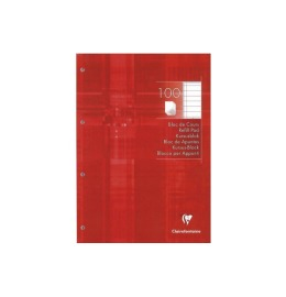 Ringbuchblock A4 liniert 100 Blatt