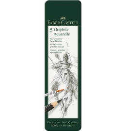 Graphite Aquarelle Bleistift Metalletui 5 Stück