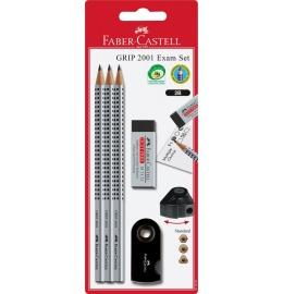 Bleistift-Set Grip 2001 silber/schwarz 3 Stück