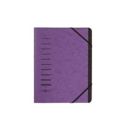 Ordnungsmappe 7 Fächer aubergine 1-7