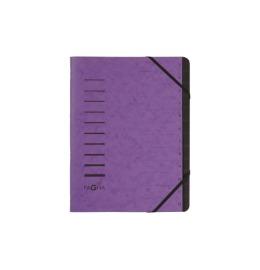 Ordnungsmappe 12 Fächer aubergine 1-12