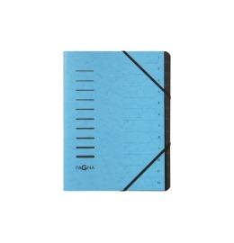 Ordnungsmappe 12 Fächer hellblau 1-12