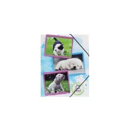 Gummizugmappe Hunde A4 PP 3 Einschlagklappen