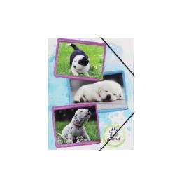 Gummizugmappe Hunde A3 PP 3 Einschlagklappen
