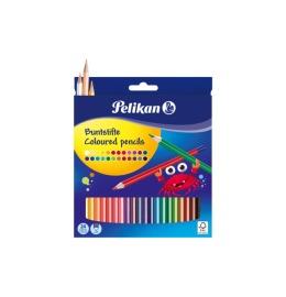Buntstifte sechseckig 24 Farben