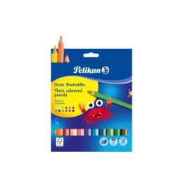 Buntstifte Jumbo dreikant 12 Farben inkl. Spitzer