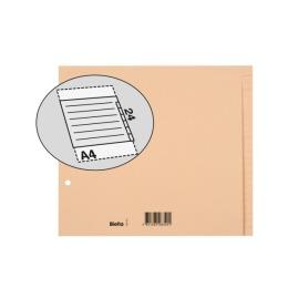 Register Karton braun A4 24-teilig