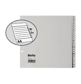 Register PP grau A4 24-teilig
