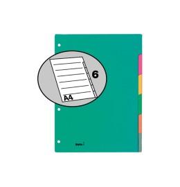 Register Karton farbig A4 6-teilig, blanko