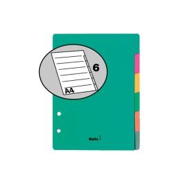 Register Karton farbig A5 6-teilig