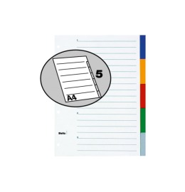 Register PP farbig A4 5-teilig, blanko
