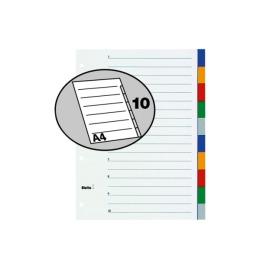 Register PP farbig A4 10-teilig, blanko