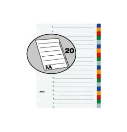 Register PP farbig A4 20-teilig, blanko