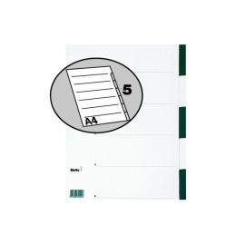 Register Karton farbig A4 5-teilig, blanko