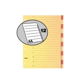 Register Karton braun A4 12-teilig