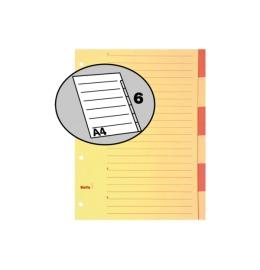 Register Karton braun A4 6-teilig