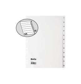 Register PP weiss A4 1-12