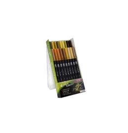 Dual Brush Pen 18 Farben, Etui