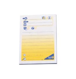 Notes Symbol 102x74,5mm blau/gelb 50 Blatt