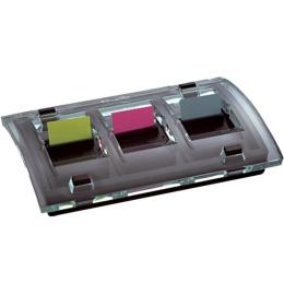 Index Design Dispenser 25x44mm schwarz/transp. 3x50 Stück