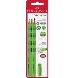 Bleistift-Set GRIP hellgrün Eraser Cap