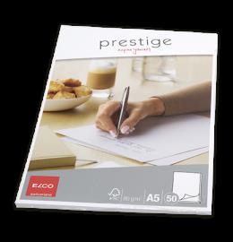 Schreibblock Prestige A5 blanko, 80g 50 Blatt