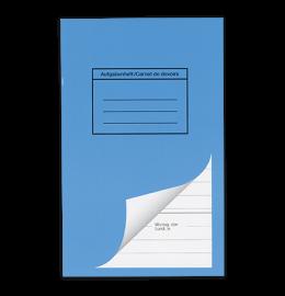Schulheft 11x17,5cm Aufgaben blau