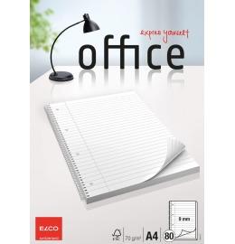 College Office liniert 9mm A4 hochweiss, 70g 80 Blatt