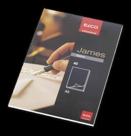 Schreibblock James Satine A5 weiss, 100g 40 Blatt