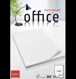 Schreibblock Office A4 kariert, 70g 50 Blatt