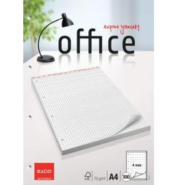 Block Office kariert 4mm A4 hochweiss, 70g 100 Blatt