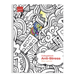 Antistress-Collegeblock A4