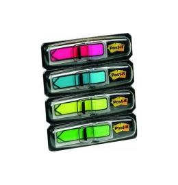 Index Pfeile neon 4-farbig ass./4x24 Blatt rot, blau, gelb, grün