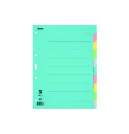 Register Karton farbig A4 10-teilig, blanko