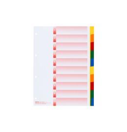 Register Kolmaflex blanko A4 mehrfarbig, 10-teilig