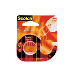 Crystal Tape 19mmx7.5m kristallklar, auf Abroller
