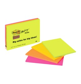 Super Sticky Big Notes 4x45Bl. 4 Farben ass. 152x101mm