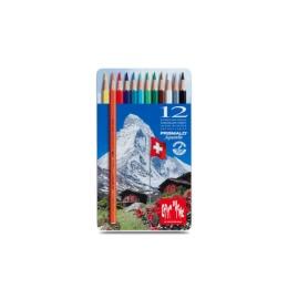 Farbstifte Prismalo 3mm 12 Farben ass.,Metallschachtel