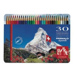 Farbstifte Prismalo 3mm 30 Farben ass.,Metallschachtel