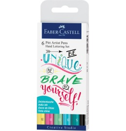 Pitt Artist Pen Handlettering Pastell 6er Etui