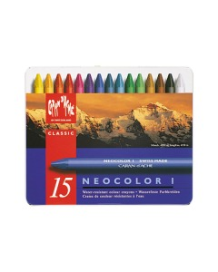 Wachsmalstift Neocolor 1 15 Farben Metallbox