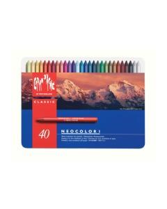 Wachsmalstift Neocolor 1 40 Farben ass. Metallbox