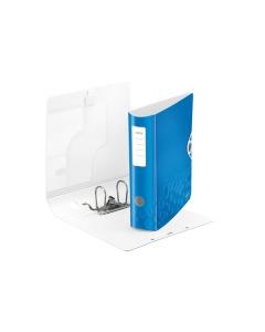 Ordner 8cm blau metallic A4