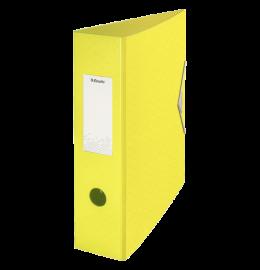 Ordner Colour'Ice mit Gummiband A4 8,2cm gelb
