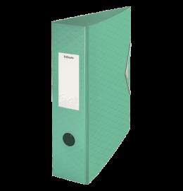 Ordner Colour'Ice mit Gummiband A4 8,2cm grün